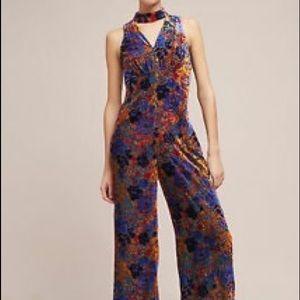 Anthropologie Velvet Multicolor Jumpsuit